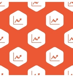 Orange hexagon rising graphic pattern vector