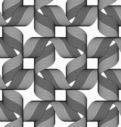 Ribbons dark and light forming bows pattern vector image