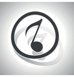 Curved music sign icon 3 vector