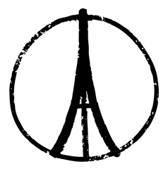 Peace for paris vector