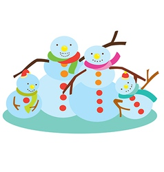 Family of snowman vector