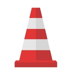 Construction of red road cones with stripes vector