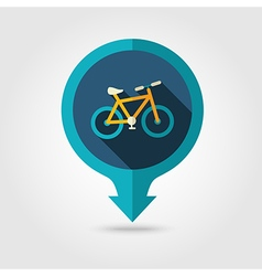 Bicycle pin map flat icon summer vacation vector