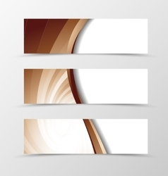 Set of banner vortex design vector
