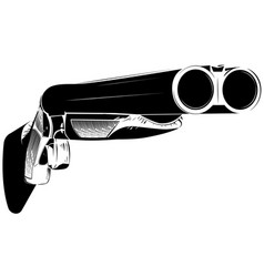 black and white shotgun vector image