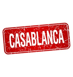 Casablanca red stamp isolated on white background vector