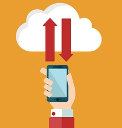 Cloud computing and communication technology vector image