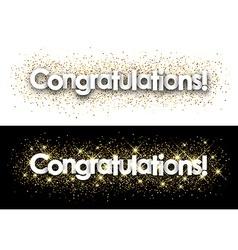Congratulations paper banner vector