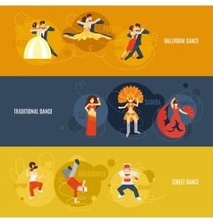 Dance banner set vector