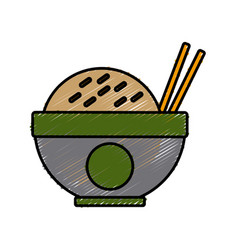 delicious dish of rice vector image vector image