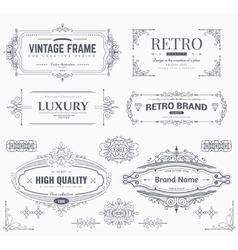 Design collection of vintage patterns vector image vector image