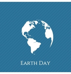 Earth Day blue and white Banner Template vector image vector image