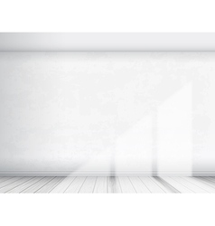 Empty interior with white wall vector image