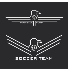 Football emblems with eagles vector