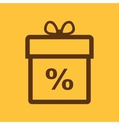 Gift box icon Discount Present symbol Flat vector image