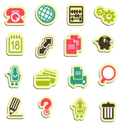 icons for web pages vector image