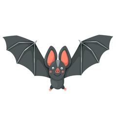 isolated cartoon bat flying vector image