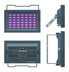 Led ultraviolet professional stage projector vector