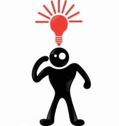 man idea vector image