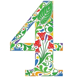Number four vector image vector image