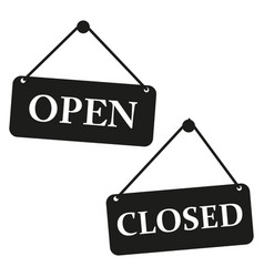 plate open closed icon sign vector image