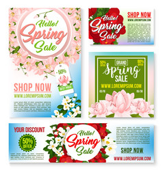 sale tags banners posters spring discount vector image