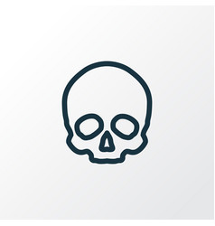 skull outline symbol premium quality isolated vector image