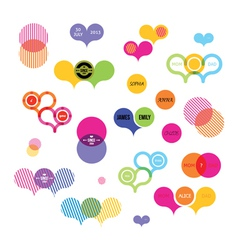 stickers with color vector image