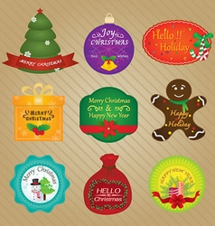 Christmas and happy new year tags vector