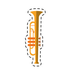 Cartoon trumpet musician instrument icon vector