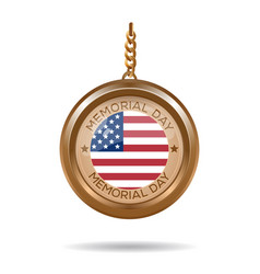 Round medallion with inscription - memorial day vector
