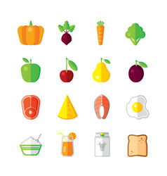 Healthy food - modern color flat design vector