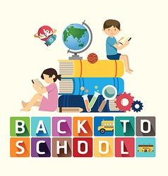 Back to school design education idea vector