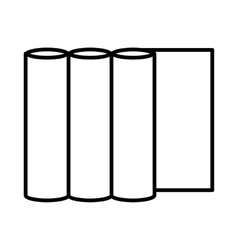 Rolls of paper icon outline style vector