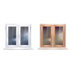 Plastic windows vector