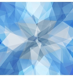 Abstract geometric ice flower vector image vector image