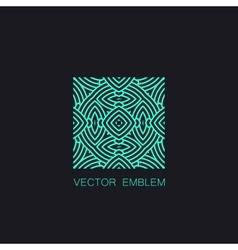 art-deco turquoise emblem vector image vector image