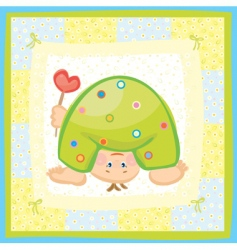 card for boy vector image