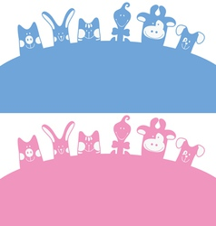 cartoon farm animals vector image vector image