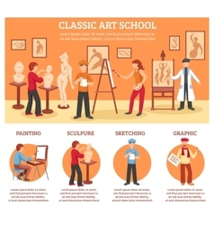 Classic Art Infographic Set vector image vector image