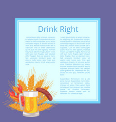 Drink right poster depicting food and beverage vector