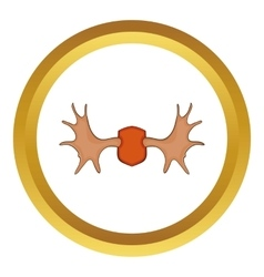 Elk horns icon vector image