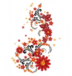 flowers background vector image