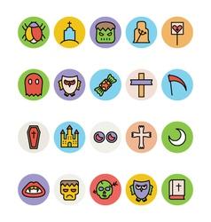 Halloween icons 4 vector