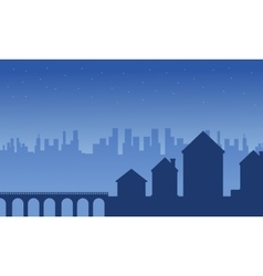 House and building silhouettes landscape vector
