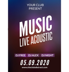 Live music acoustic poster design temple live show vector