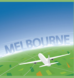 Melbourne flight destination vector