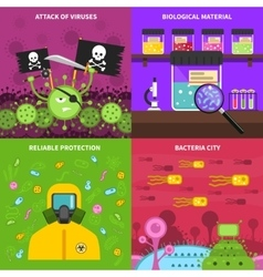 Microbiology concept set vector