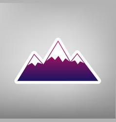 Mountain sign purple vector