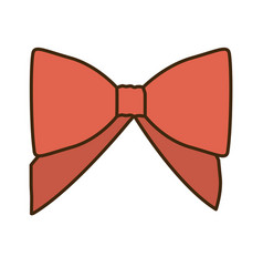 Opaque color cute red ribbon with bow vector
